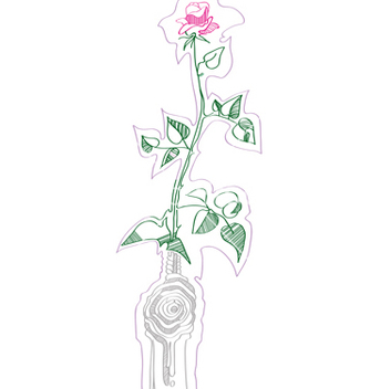 Free rose design vector - vector gratuit #267613