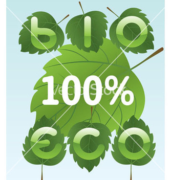Free bio and eco labels vector - vector gratuit #267663