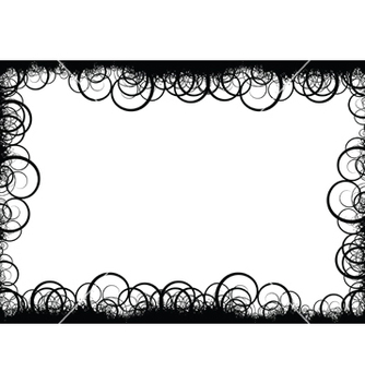 Free floral border vector - Free vector #267783