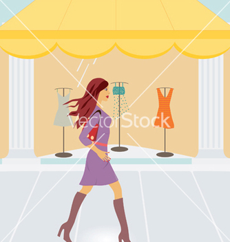 Free city shopping vector - Free vector #267963