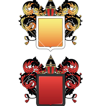 Free coat of arms 2 colored vector - Free vector #267993