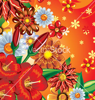 Free floral background vector - Free vector #268143