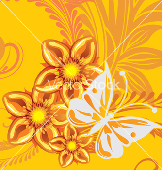 Free floral background vector - Free vector #268183