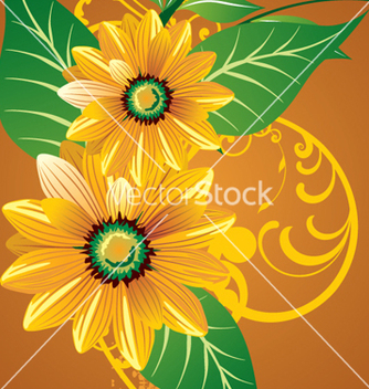Free floral background vector - Free vector #268193