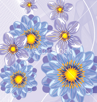 Free floral background vector - Free vector #268203