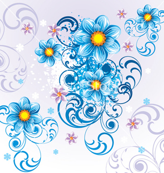 Free floral background vector - Free vector #268243