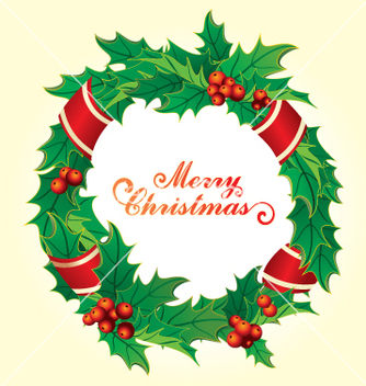 Free christmas wreath vector - бесплатный vector #268333