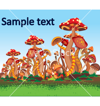 Free mushrooms vector - Free vector #269003