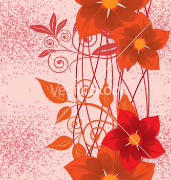 Free floral background vector - Free vector #269133