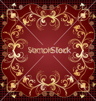 Free floral frame vector - Free vector #269303