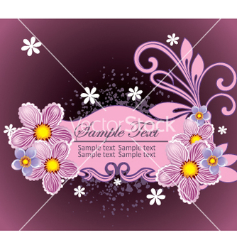 Free floral frame vector - Free vector #269343