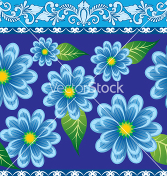 Free floral border vector - Free vector #269353