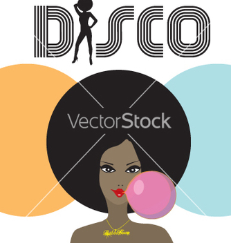 Free disco lady vector - Free vector #269393