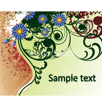 Free floral background vector - Free vector #269443