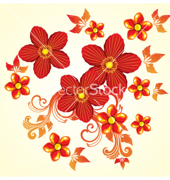 Free floral design vector - Free vector #269543