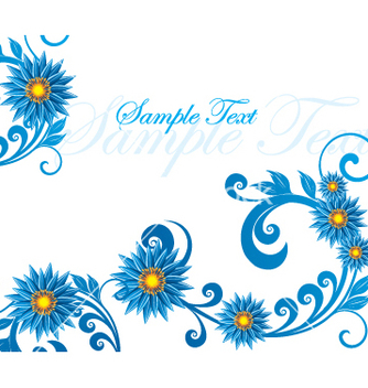 Free floral background vector - Free vector #269573