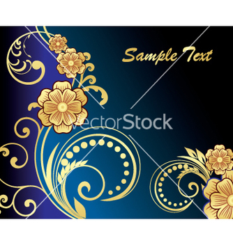 Free golden floral vector - Free vector #269643