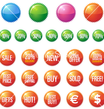 Free sale buttons vector - Kostenloses vector #270073