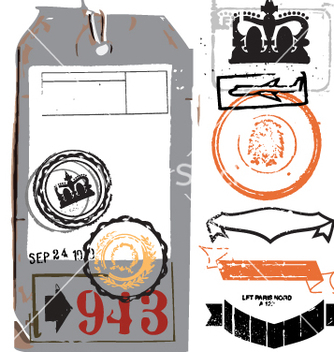 Free vintage luggage tag vector - бесплатный vector #270273