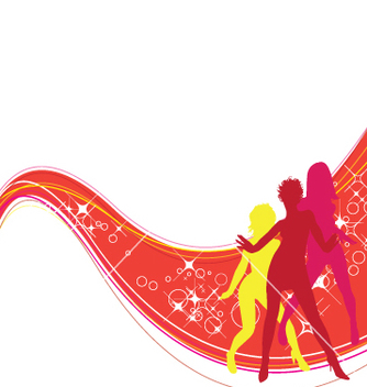 Free dancing girls vector - Free vector #270343