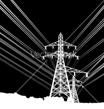 Free power lines vector - бесплатный vector #270403