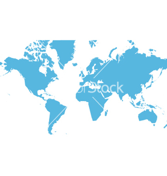 Free world map flat vector - Free vector #270433