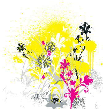 Free grunge flowers vector - Free vector #270473