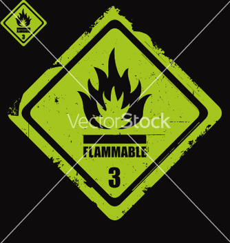Free flammable sign grunge vector - Free vector #270543