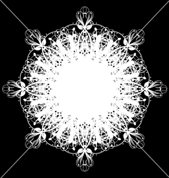 Free lace doily vector - Free vector #270603