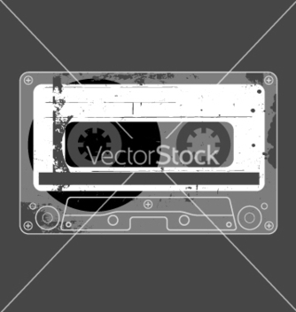 Free audio cassette tape grunge vector - бесплатный vector #270613