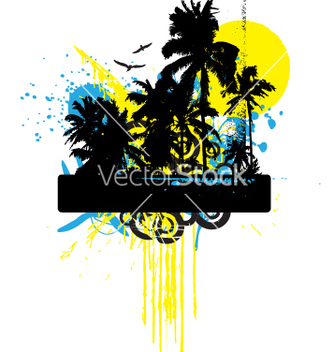 Free tropical grunge graphic vector - Free vector #270683