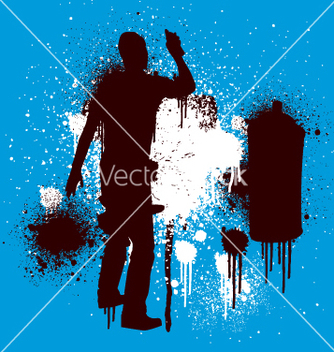 Free spray guy stenciled vector - Free vector #270723