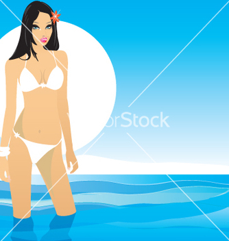 Free girl in bikini vector - Free vector #270753