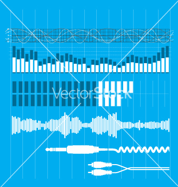Free sound elements vector - Free vector #270953