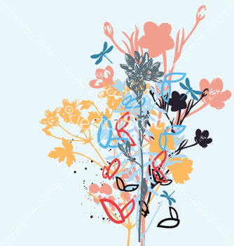 Free wild flowers vector - Free vector #270973