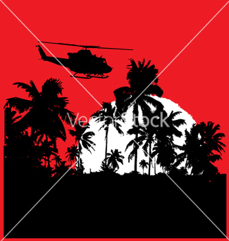 Free tropical heat with choppa vector - Free vector #271003