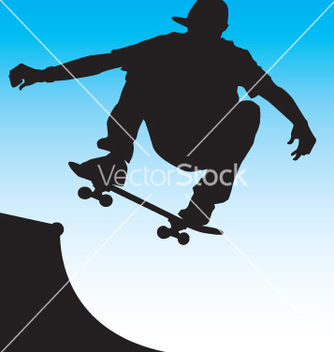 Free skater front side air vector - vector gratuit #271073
