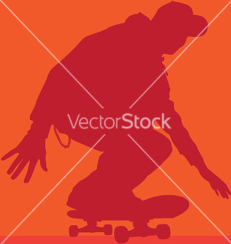 Free skateboarder rolling vector - vector gratuit #271083