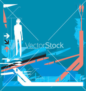 Free high tech background vector - Free vector #271293