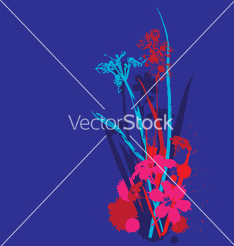 Free funky flowers design vector - Free vector #271353