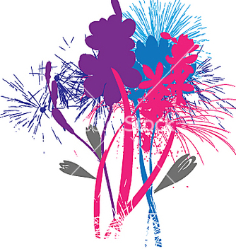 Free flowers like fireworks vector - бесплатный vector #271393