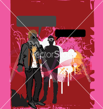 Free urban dude on cellphone vector - Free vector #271403