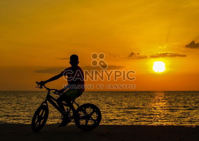 Silhouette at sunset - Free image #271883