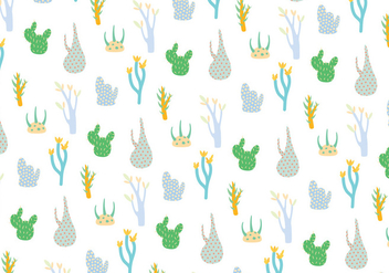 Plants pattern background - vector gratuit #272353