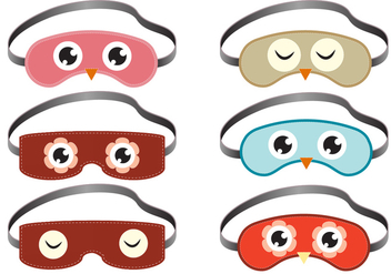 Sleep Mask Vectors - бесплатный vector #272423