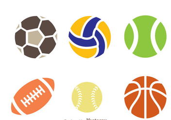 Sport Ball Icon Vectors - vector gratuit #272443