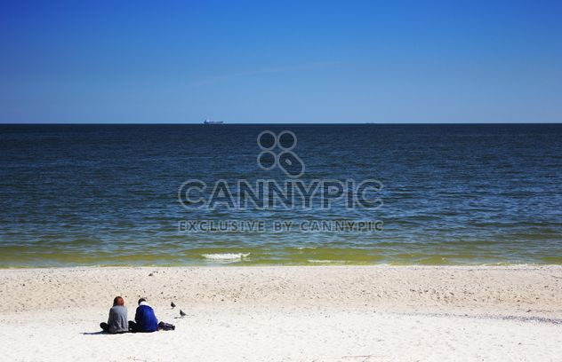 Couple on a beach - Free image #272623