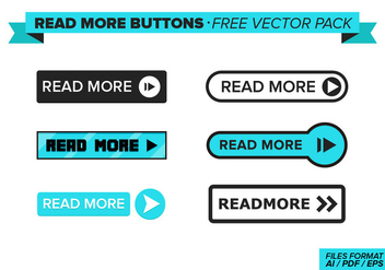 Read More Buttons Free Vector Pack - Kostenloses vector #272653