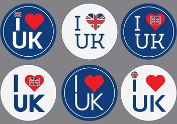 I Love UK Vector - vector gratuit #272703