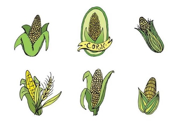 Free Ear of Corn Vector Series - бесплатный vector #272713